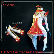 Juego personalizado LOL Cosplay Star Guardian Miss Fortune Magic Girl Disfraz de Cosplay Anime Cos Women Dress Costumes Uniforms