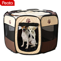 Folding Pet Tent Cage Fence Playpen For Dogs Home Puppy Fence Kennel Kitten House Cage Dog House Pet Exercise Cage Y