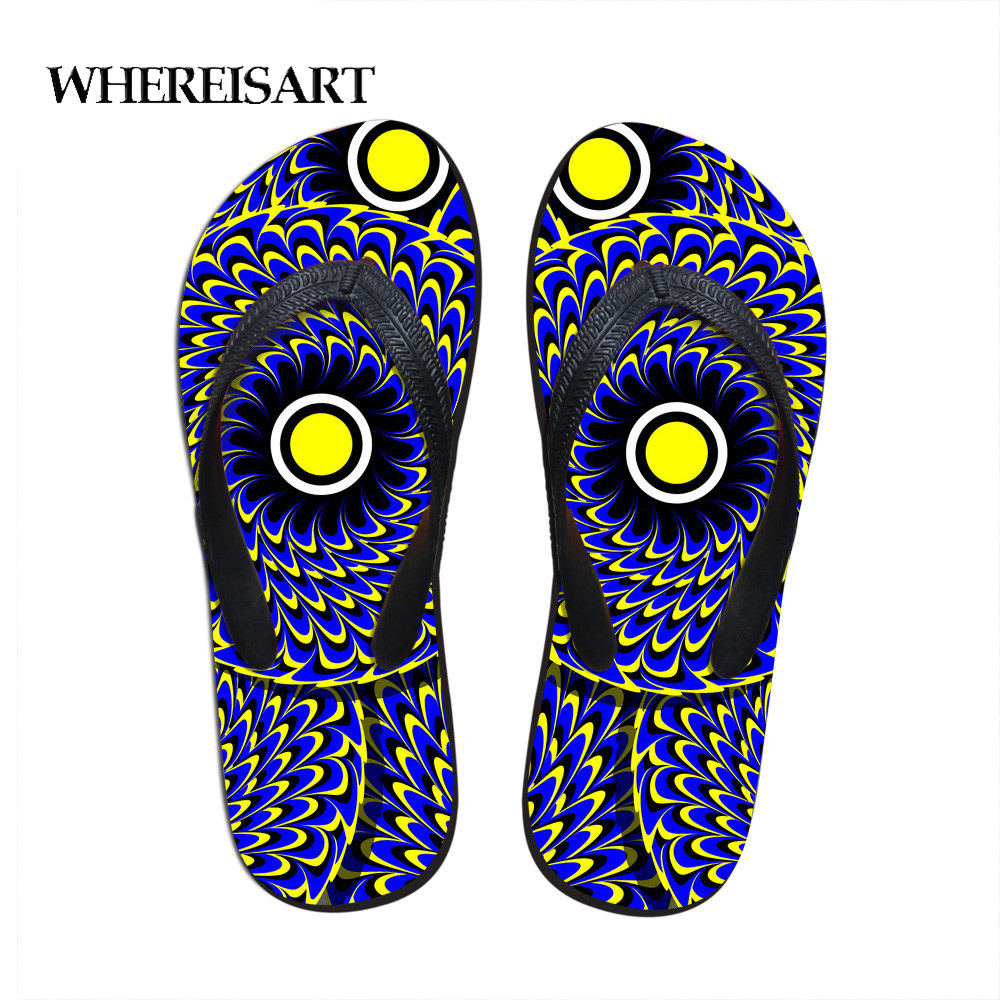 Trend Mark Whereisart Men Sandals Retro Flower Prints Flip Flops Man Beach Slippers For Summer Shoes Flat Sandal Male Flip Flop Wholesale Easy To Use Other