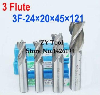 1 шт./компл. 24 мм 3 Флейта HSS & алюминиевый торцевой фрезы CNC бит фрезерный станок Инструменты для резки. Токарный инструмент