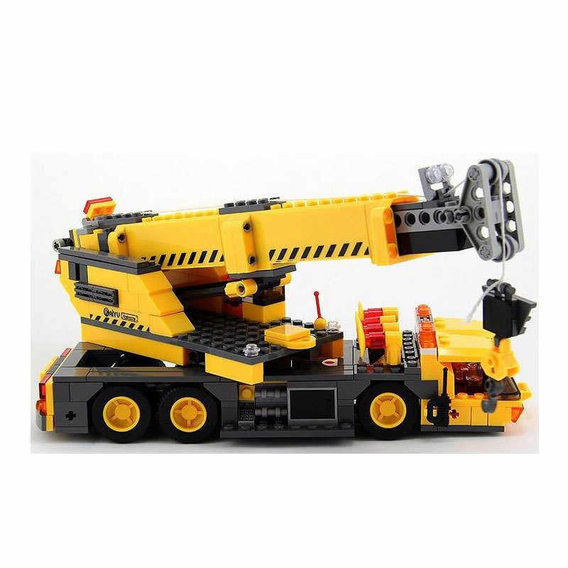 KAZI 8045 экскаватор инженерный кран Строительные блоки Образование Legoing City Technic грузовик Строительство Кирпич игрушки для детей