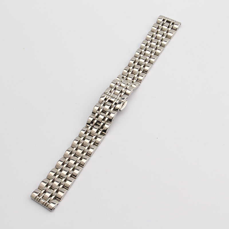 где купить High quality watchband silver metal stainless steel watch straps bracelet polished 14mm 16mm 18mm 20mm 22mm 24mm fast delivery по лучшей цене