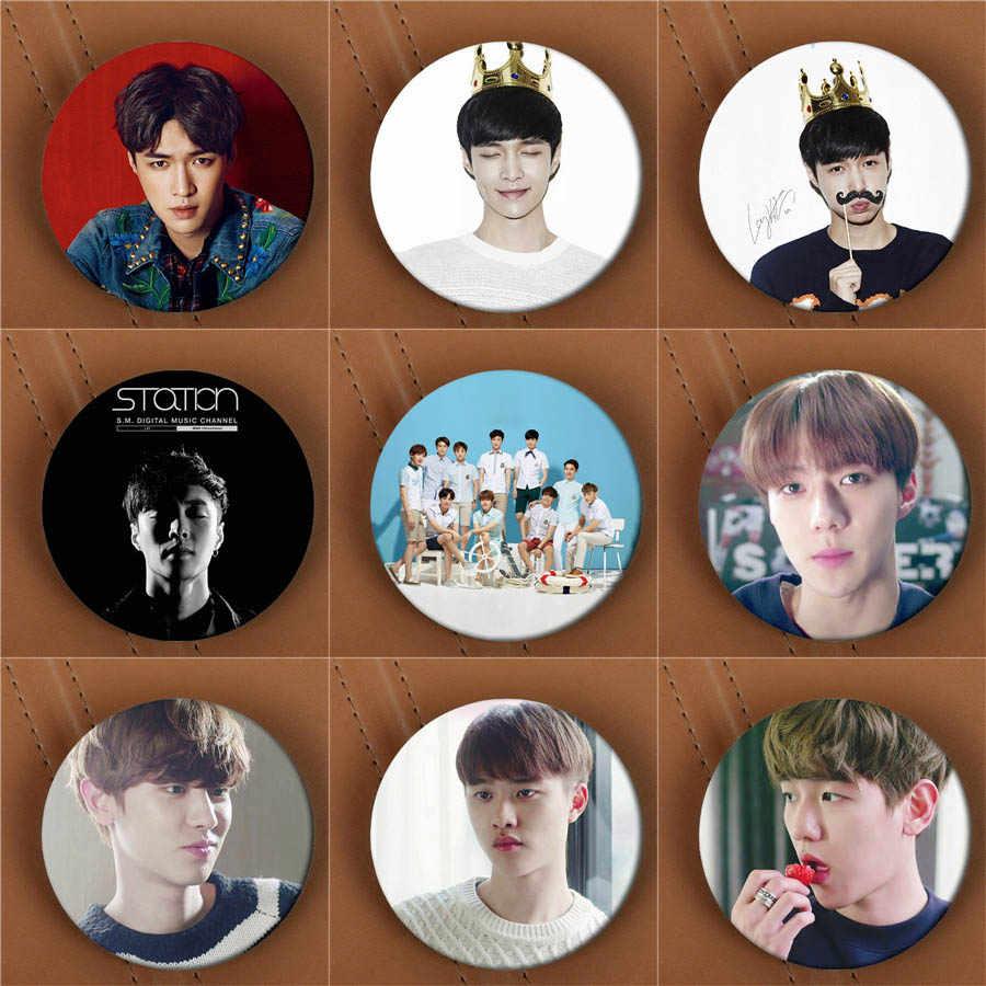 Youpop KPOP EXO EXO-K EXO-M להניח BAEKHYUN לעשות אלבום סיכת K-POP פין תג אביזרי בגדי כובע תרמיל קישוט HZ1718