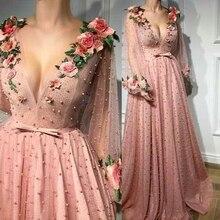 Яркий тяжелый ручной бусины v-образным вырезом декольте Вечерние платья с Спагетти ремень с бисером с низким вырезом на спине вечернее платье выпускного вечера