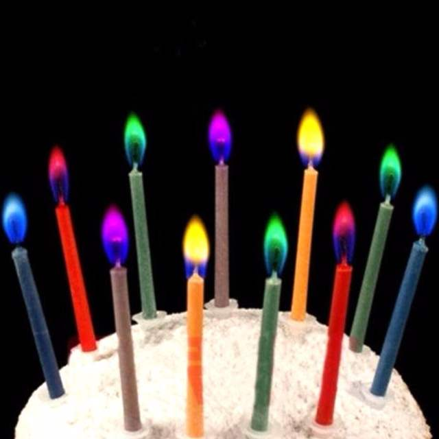 Us 12 6pcslot Colored Birthday Candles Safe Flames Candle Party Festivals Cake Topper Decorations Bougie Anniversaire Velas In Candles From Home
