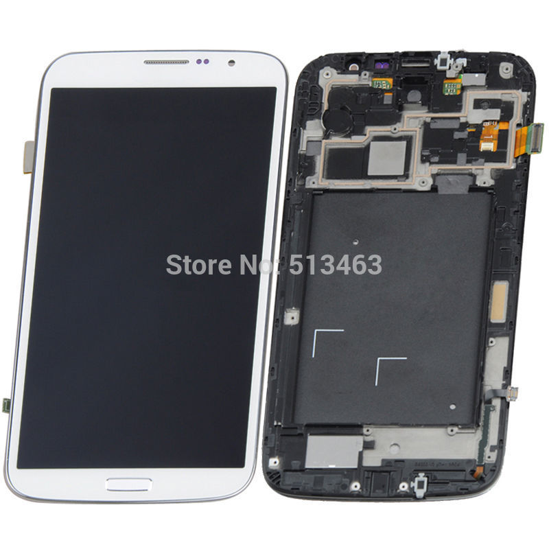 OEM for Samsung Galaxy Mega 6.3 i9200 LCD screen display touch digitizer with frame assembly free shipping