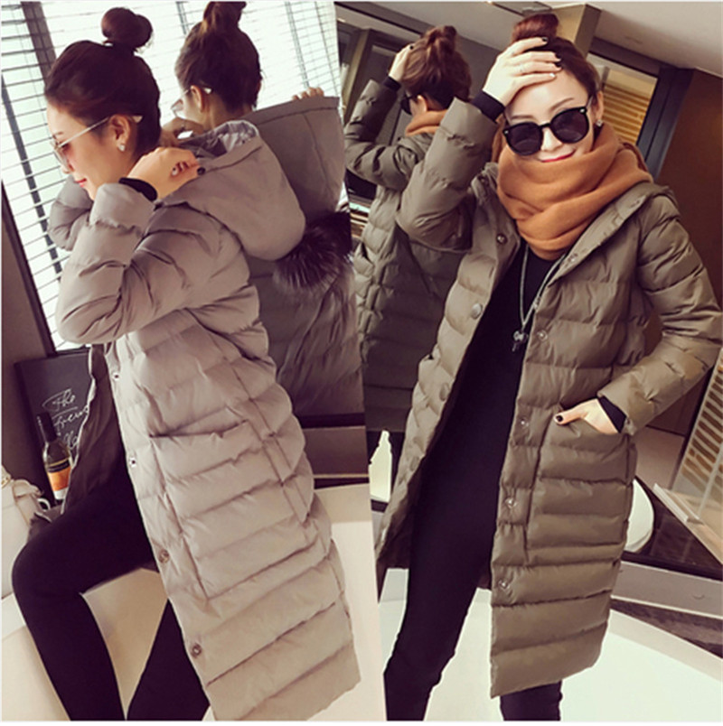 Cotton Padded Jacket Winter Coat Women Loose Thick Wadded Jacket Parka Long Sections Female Winter Jacket Winter Overcoat TT285 linenall parkas original design 2016 brief loose plus cotton cotton padded jacket cotton padded wadded jacket female zi