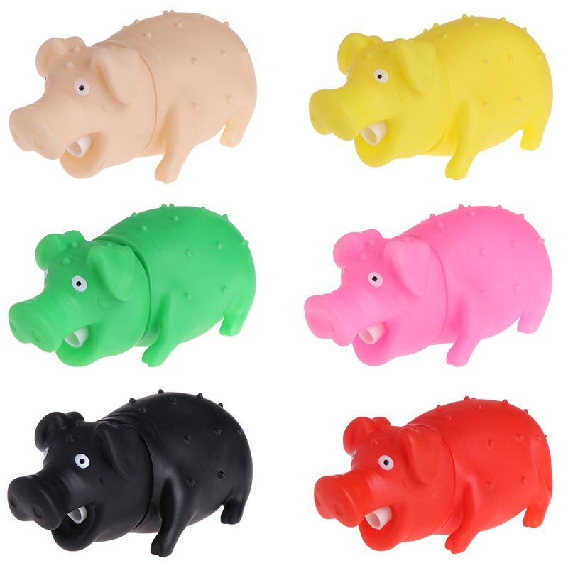 Pet Dog Toys Pig Shape Squeaky Rubber Cute Soft Chew Sound Puppy Cachorro Cleaning Teeth Kit