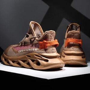 Image 1 - 新しい軽量男性の靴男性カジュアルシューズレースアップスニーカー夏通気性の男性フラットシューズ、男性靴chaussureオム