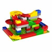 Funny DIY Construction Marble Race Run Maze Balls Track Building Blocks Self Locking Blocks High Quality