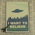 Quiero Creer-X Archivos de Arte de la Película Película UFO Tela pegatinas de Pared Del Cartel decoración carteles que restaura maneras antiguas