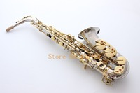 France Selmer 54 E Flat Alto Saxophone Eb Musical Instrument Saxe NI Gold Plated Process Sax