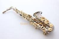 France Selmer 54 E Flat Alto Saxophone Eb Musical Instrument Saxe NI Gold Plated Process Sax