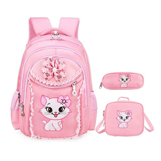 Hello Kitty School Backpack For Girls Cartoon School Bags kindergarten  Children Cute Bookbag kids mochila infantil Rucksack 4ccb672b40dad