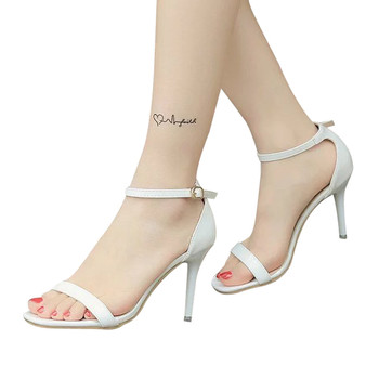 Fashion women shoes high heel Ladies Sandals Ankle High Heels Block Party Open Toe Shoes zapatos mujer tacon alto#0203g10 Uncategorized Fashion & Designs Ladies Shoes Women's Fashion