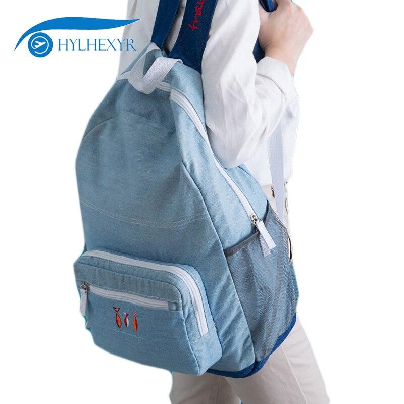 Mutig Hylhexyr Bookbags Denim Weibliche Reise Umhängetasche Wasserdichte College School Rucksack Schultasche Rucksack Für Männer Frauen GroßEr Ausverkauf Rucksäcke