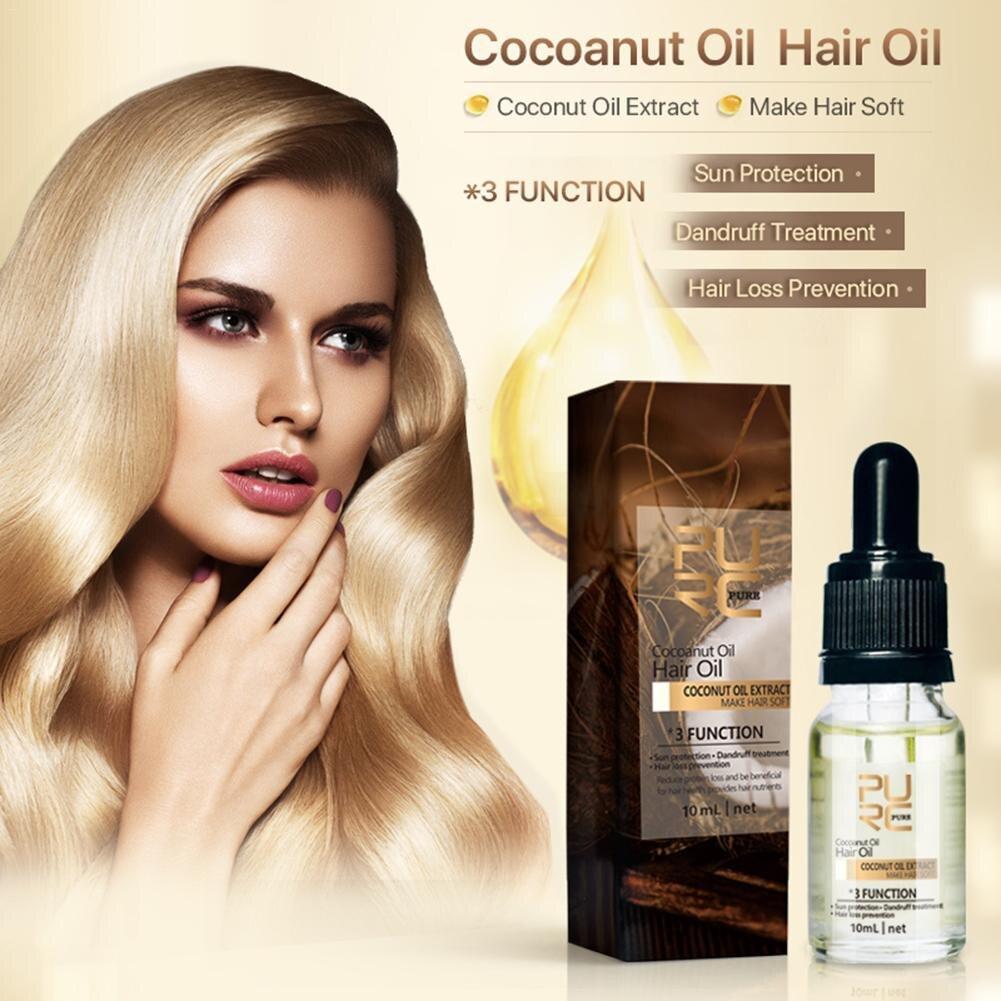 10ML Hair Coconut Essential Oil Anti-Alopecia Anti-Dandruff Hair Care Essential Oil Smooth