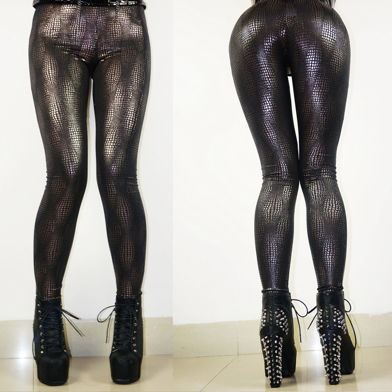 Top Quality Sexy Faux Leather Leggings Women Gothic