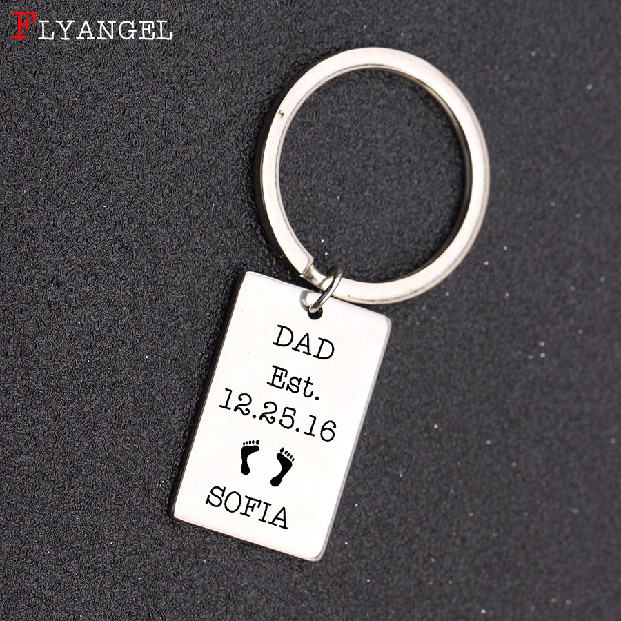 Custom Baby Name And Birth Date Engraved Dad Est Fashion