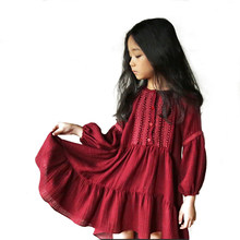 a678100b5a Children s Bosmia Girls Knee Length Quality Beautiful Red  Green Dress  Embroidered Baby Kids Children s Wear