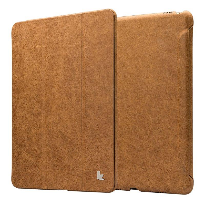 Prix pour Jisoncase smart tablet couverture pour ipad pro 9.7 pouces case marque de luxe en cuir véritable smart case avec aimant auto éveillé/sommeil