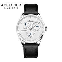 Agelocer Swiss Brand Watch Swizerland Luzern Design Mechanical Watches Power Reserve 42 Hours Fitness Male Clock