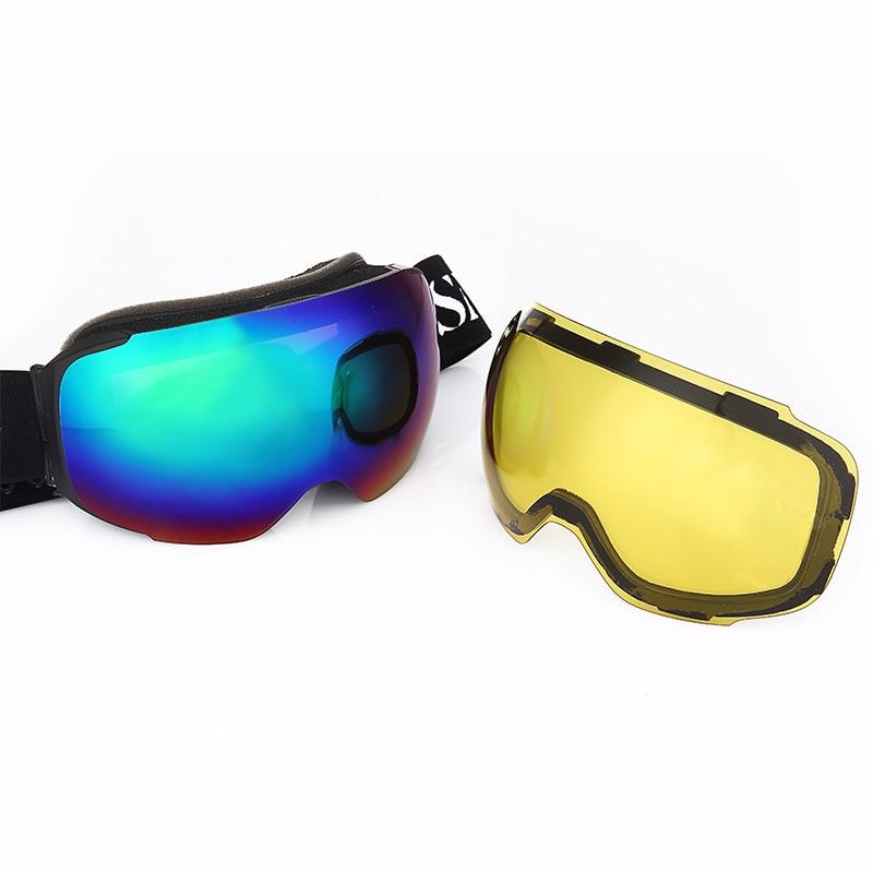 Snow Ski Goggles Magnetic Dual Layers Lens Skiing UV400 Anti-fog Eyewear Snowmobile Mask Men Women Snowboard Detachable Glasses