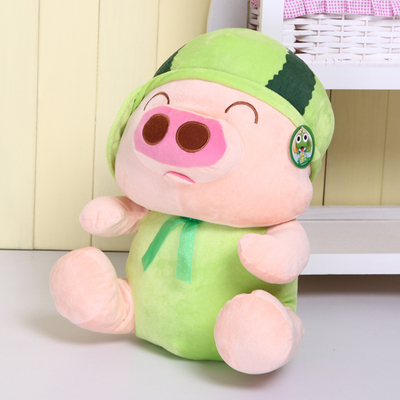 Stuffed animal 60cm fruit pig plush toy watermelon McDull pig doll throw pillow w3858 gift fruit style watermelon pineapple grapes mcdull pig soft coral velvet baby blanket cushion hand warm stuffed toy gift 1pc