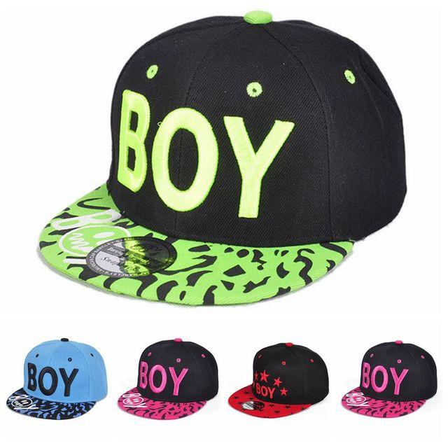9da17516370 Kids 3D Letter BOY Cap Spring Summer Baby Boys Girls Baseball Caps Casual Adjustable  Hip-Hop Snapback Sun Hat