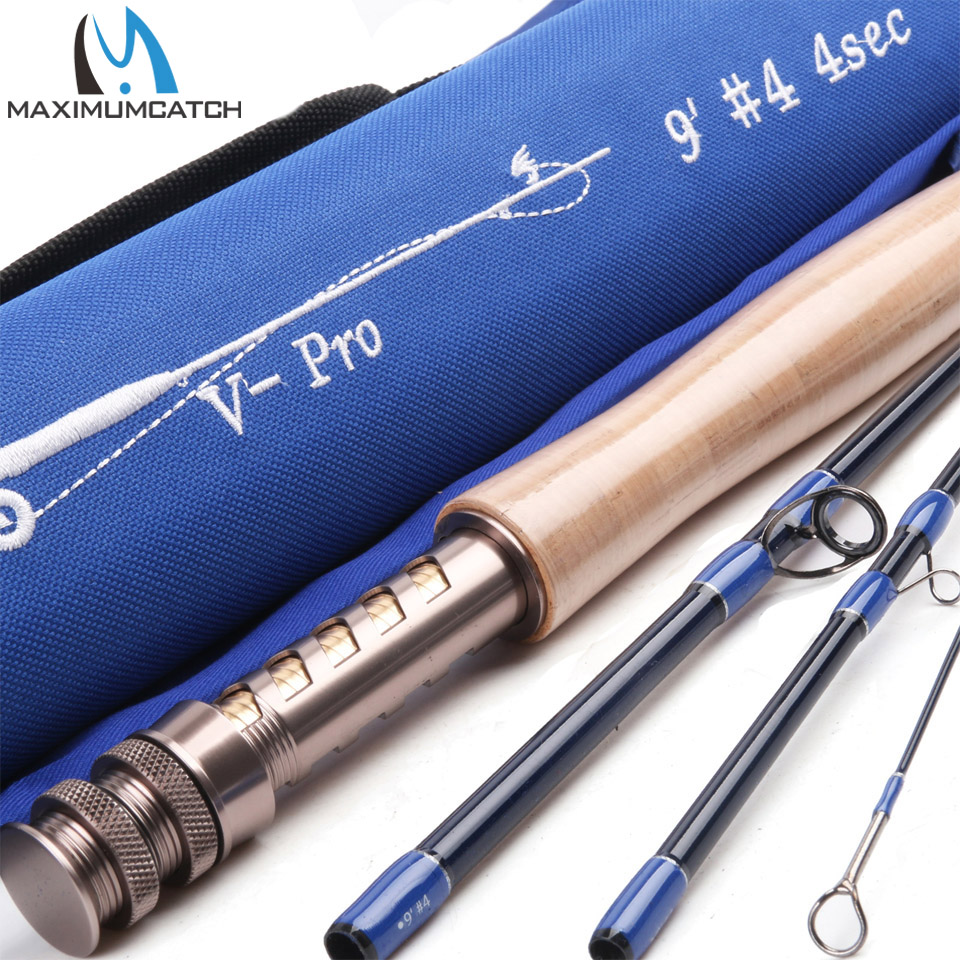 Maximumcatch V-Pro 9044 Fly Fishing Rod 36T SK Carbon Fiber 9FT #4 4Pcs Fast Action Fly Rod With a Triangle Cordura Rod Tube crony st8003 3 gc pro stream series rod weight 79g 8 0 3 3pieces fly rod 6 15g fishing rod