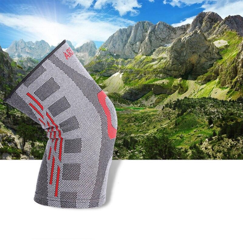 NatureHike Elastische Kniebandage Kompressionsbandage Knieschützer Volleyball Einstellbar Knieschützer Basketball Sicherheit Schutz Strap M L XL