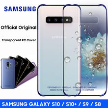 Samsung S10 Case Official Original Clear Hard Cover Transparent PC Shockproof SAMSUNG Galaxy S8 S9 S10 Plus S10e Back Case(China)