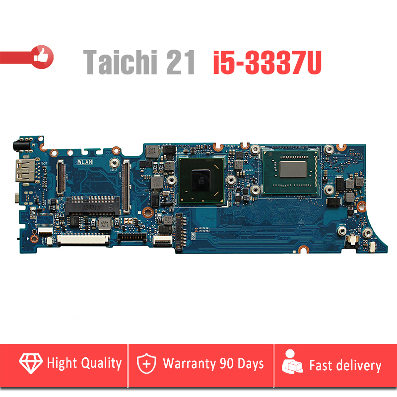 YTAI i5-3317U 4G for ASUS TAICHI21 Laptop Motherboard REV3.1 HM76 with SR0XL i5-3317U and 4G RAM onboard mainboard fully tested for asus x75vd x75v x75vc x75vb x75vd x75vd1 r704v motherboard x75vd rev3 1 mainboard i3 2350 gt610 1g ram 4g memory 100