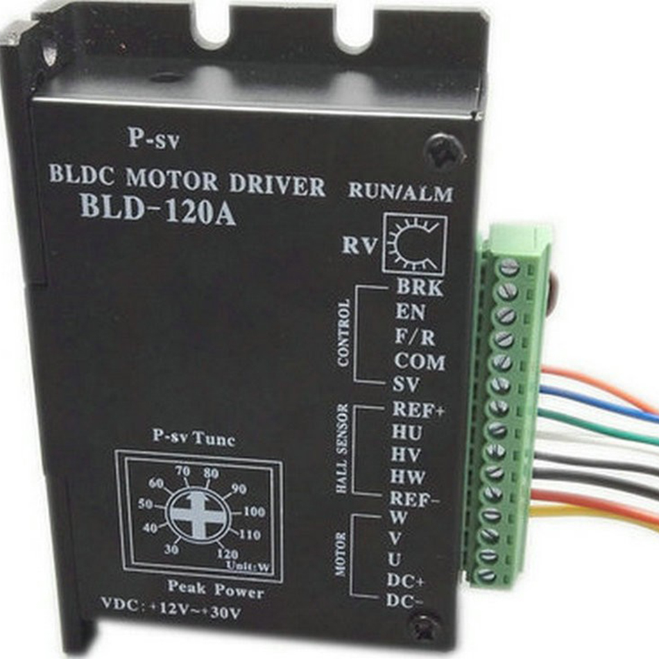 BLD-120A CE ROHS Brushless DC Motor Driver BLDC Controller BLD-120A For 120W Less 42 Under/Over-voltage Over-current Stall Hall brushless dc motor driver bldc controller bld 120a for 42 brushless motor