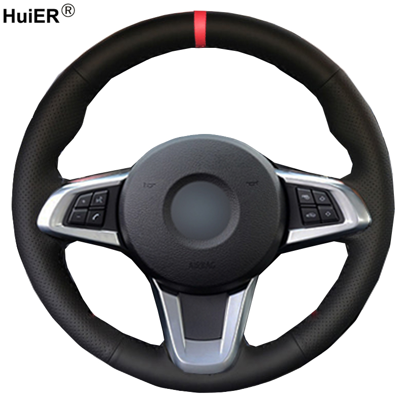 Huier Hand Sewing Car Steering Wheel Cover For Bmw Z4 2009