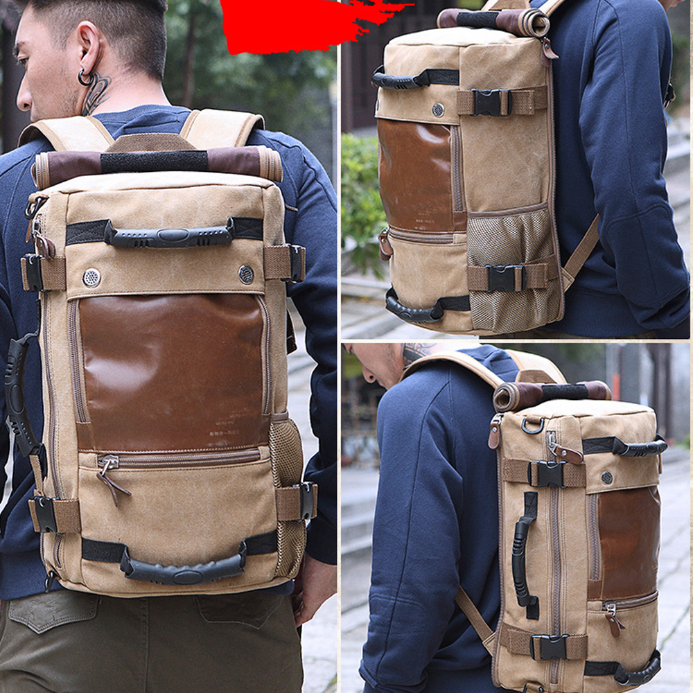 Aliexpress.com : Buy FUSHAN Men backpack Canvas Huge Travel Bag ...