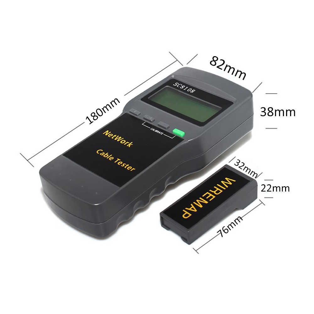 SC8108 متعددة الوظائف المحمولة LCD شاشة ديجيتال شبكة LAN فاحص الهاتف كابل القياس