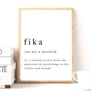 Fika Swedish Quote Art Print I