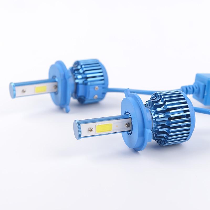 H4 High/low double beam H7 LED auto Headlight Headlamp 360 degree COB Conversion kit 3000lm 6000k H1 H3 H7 H8 H9 H11