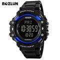 Bozlun st02 homens sport watch heart rate monitor de pulso digital el luz cronômetro alarme cronógrafo relogio masculino