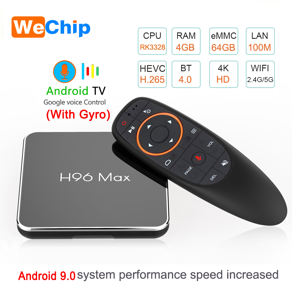 Smart TV BOX Android 9 0 With Voice Remote 4GB 64GB Amlogic S905X2 LPDDR3 2 4G