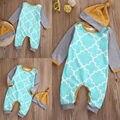 Crianças bebê Da Menina do Menino Macacão Bodysuit + Chapéu Quente Infantil Roupas Roupa 2 pcs