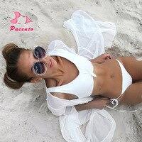 Pacento New 5 Colors Plain Tied Bikini Brazilian Tank Crop Top Women S Swimsuit Bathing Suits