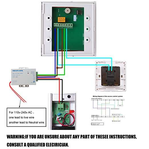 magnetic card wiring diagram bearhoho ad2000 m rfid access control system full set with  bearhoho ad2000 m rfid access control