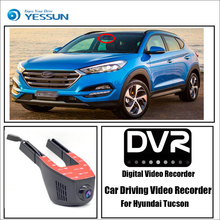 For Hyundai Tucson / Car Wifi DVR Mini Camera Driving Video Recorder Black Box Novatek 96658 Registrator Dash Cam Night Vision