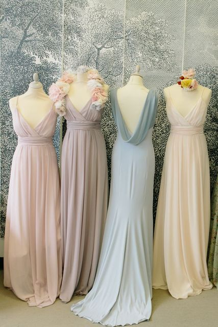 b5385bd373 Dusty Rose/Blush/Pink Bridesmaid Dresses Spaghetti Straps V neck Long  Wedding Party Dress Chiffon Maid of Honor Gowns Plus Size-in Bridesmaid  Dresses ...