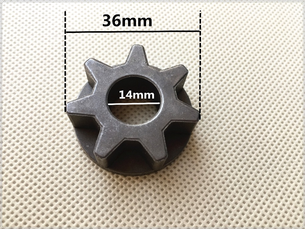 14mm Chainsaw Star Gear 115 Angle Grinder Replacement Gear For Chain Saw Reciprocating Saw Bracket Asterisk Gear Adapter