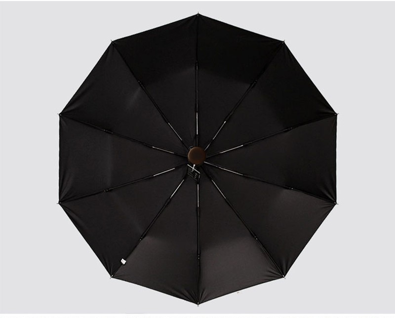 10 Ribs Fully Automatic Black Coating Pongee Men 39 s Umbrella Folding Retro Wooden Windproof Umbrellas Rain Gear Free Shipping in Umbrellas from Home amp Garden