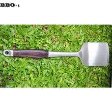 19 ''авангарная кованая лопатка из нержавеющей стали шпатель для барбекю с деревянной ручкой инструмент для гриля барбекю большая голова кулинарная лопатка Лопата