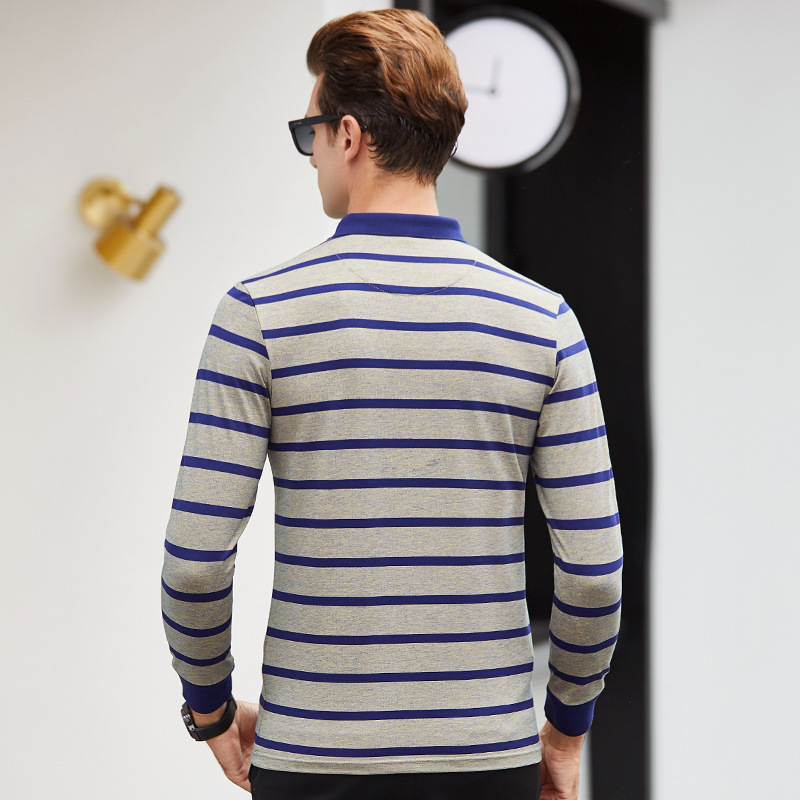 0f60ce5c0c Nova marca Camisas Dos Homens do Polo 2018 cavalo de Luxo bordado Camisa  Masculina Respirável Macio Algodão manga comprida Listrada Polo Dos Homens  em Polo ...